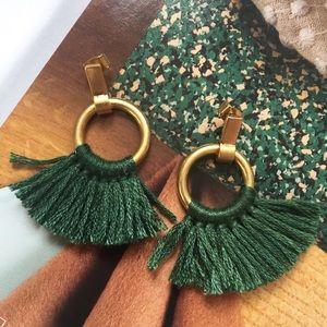 sale | madewell | tassel hoop earrings